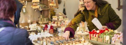 Handmade soaps at 'Savonetta' are made of high-quality vegetable oil