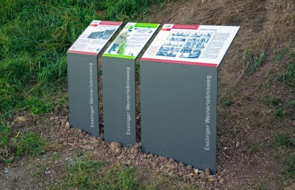 Informationstafeln in den Esslinger Steillagen, © DESIGN 4 EYES